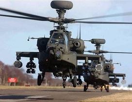 Mỹ lần đầu điều trực thăng Apache tới Iraq tham gia chống IS