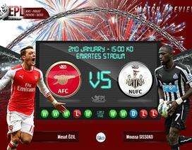 """Arsenal - Newcastle: """"Pháo"""" đã thông nòng"""