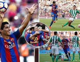 Barcelona 6-2 Betis: Đêm thăng hoa của Messi và Suarez