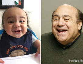 Ngộ nghĩnh những em bé trông giống y người nổi tiếng