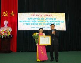 """Nhiều cá nhân Bộ Công an được trao kỷ niệm chương """"Vì sự nghiệp giáo dục"""""""