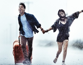 """Bộ ảnh """"vũ điệu"""" tình yêu trong... cơn bão số 1"""