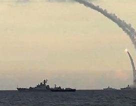 Chiến hạm Nga đồng loạt khai hỏa tên lửa hành trình Calibr trên biển Caspian