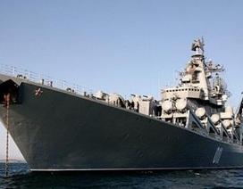 """Cặp tuần dương hạm Nga Moskva-Varyag chuẩn bị """"hợp công"""" ở Syria"""