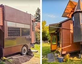 Cặp đôi xây lâu đài trong mơ trên xe tải để đi khắp thế giới