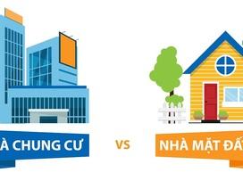Gia đình trẻ: Chọn nhà chung cư hay nhà mặt đất?