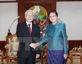 Tổng Bí thư Nguyễn Phú Trọng hội kiến Chủ tịch Quốc hội Lào