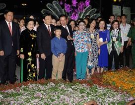 Chủ tịch nước Trương Tấn Sang dự khai mạc Đường hoa Nguyễn Huệ