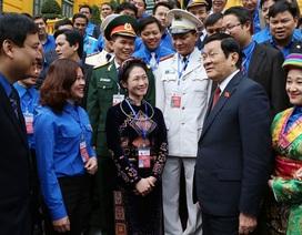 Chủ tịch nước Trương Tấn Sang gặp mặt cán bộ đoàn, đoàn viên tiêu biểu