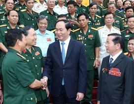 Chủ tịch nước Trần Đại Quang gặp mặt đại biểu doanh nhân cựu chiến binh