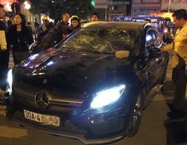 Hà Nội: Cô gái trẻ bị ném vỡ kính xe Mercedes nghi do ghen tuông