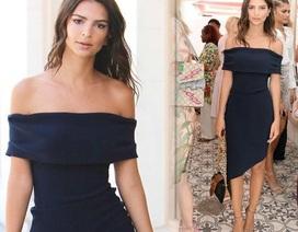 Người mẫu Mỹ đẹp nuột nà với váy hở vai
