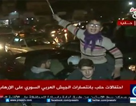 Hàng nghìn người Syria ra đường mừng Aleppo được giải phóng