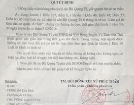 """Thái Bình: Một người dân thường bị kết tội """"Làm giả tài liệu cơ quan nhà nước, tổ chức"""""""