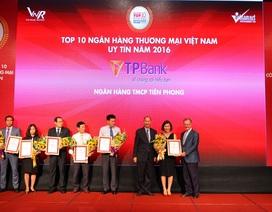 TPBank nhận giải thưởng ngân hàng thương mại Việt Nam uy tín nhất năm 2016