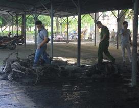 Hà Nội: Cháy bãi xe gần một điểm thi