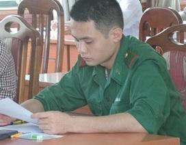 Vòng ngực trung bình từ 81 cm trở lên mới được dự thi vào trường quân đội