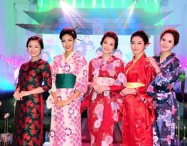 Kiều nữ Việt đọ sắc trong trang phục kimono