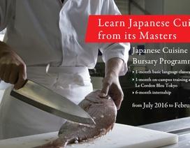 """Học bổng toàn phần khóa """"Âm thực Nhật Bản""""  tại Le Cordon Bleu Tokyo"""