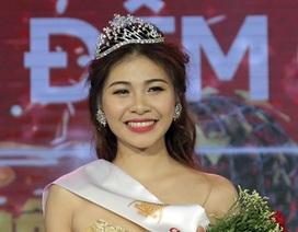 Nữ sinh Văn hóa Nghệ thuật quân đội đăng quang Hoa khôi sinh viên Hà Nội