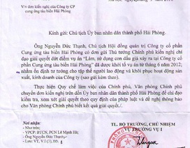 """Văn phòng Chính phủ đề nghị giải quyết vụ án """"Làm, sử dụng con dấu giả của tổ chức"""" tại Hải Phòng"""