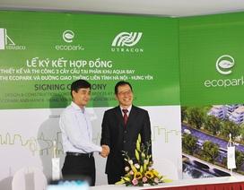 Ecopark tiếp tục xây dựng 3 cây cầu tại phân khu mới Aqua Bay