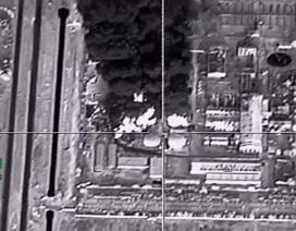 Cận cảnh chiến đấu cơ Nga dội bom cơ sở dầu của IS sát biên giới Thổ Nhĩ Kỳ