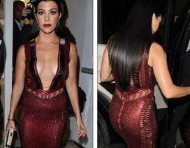 Sao truyền hình thực tế Mỹ táo bạo với váy xẻ ngực sâu
