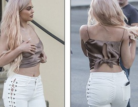Kylie Jenner gợi cảm khoe tóc mới