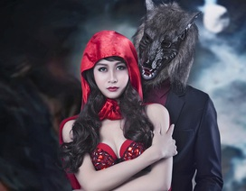 """""""Thiếu nữ quàng khăn đỏ"""" bí ẩn, quyến rũ bên chàng sói"""