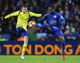 Thua liên tiếp, ĐKVĐ Leicester rơi sát nhóm xuống hạng
