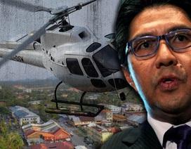 Trực thăng chở nhiều quan chức cấp cao Malaysia mất tích