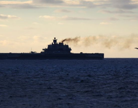 Chiến đấu cơ Nga rơi xuống biển gần tàu sân bay ngoài khơi Syria