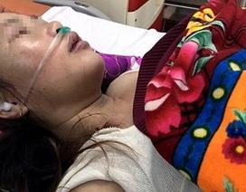 Một phụ nữ mới sinh bị đánh phải cấp cứu