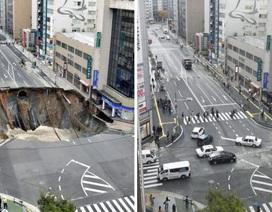 Nhật Bản vá hố tử thần sâu 15m chỉ trong 2 ngày