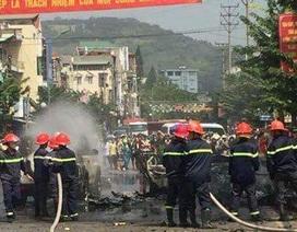 Xe taxi phát nổ kinh hoàng ở Cẩm Phả, 2 người thiệt mạng