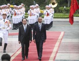 Video lễ đón Tổng thống Mỹ Barack Obama tại Phủ Chủ tịch