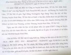 """Hà Nội: Chủ tịch huyện Hoài Đức cấp khống sổ đỏ, quan về hưu, dân """"kêu trời""""!"""