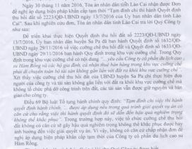 Bị cưỡng chế thu hồi đất, doanh nghiệp phản bác hồi âm của TAND tỉnh Lào Cai
