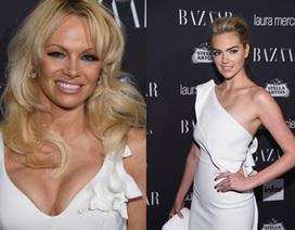 Pamela Anderson đọ dáng siêu mẫu áo tắm