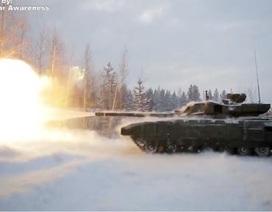 Pháo trên tăng Armata bắn xuyên giáp dày 1m