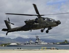 Trực thăng Apache của Mỹ lao đầu xuống biển ở Hy Lạp