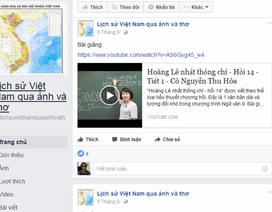 Dạy Lịch sử cho học sinh qua Facebook