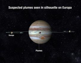 Khám phá các chùm nước trên Europa qua các bức ảnh