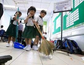 Tại sao trường học ở Nhật Bản thường không có lao công?