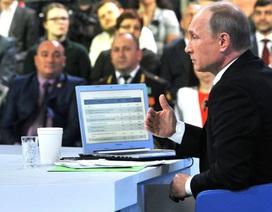 Ông Putin sắp giao lưu trực tuyến với toàn dân Nga