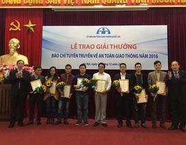 Phóng viên Dân trí đoạt giải Ba báo chí về an toàn giao thông