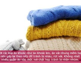 Lưu ý khi bảo quản quần áo mùa đông