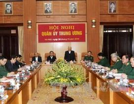Tổng Bí thư, Chủ tịch nước và Thủ tướng dự Hội nghị Quân ủy Trung ương