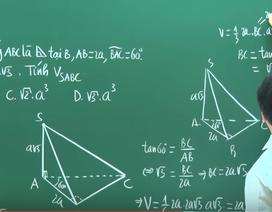 Video bài giảng toán học: Thể tích khối hình chóp
